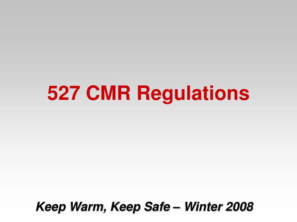 527 CMR Regulations