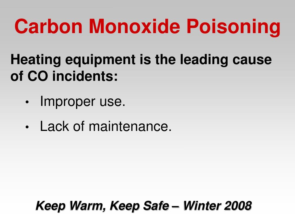 Heating equipment is the leading cause of CO incidents:
