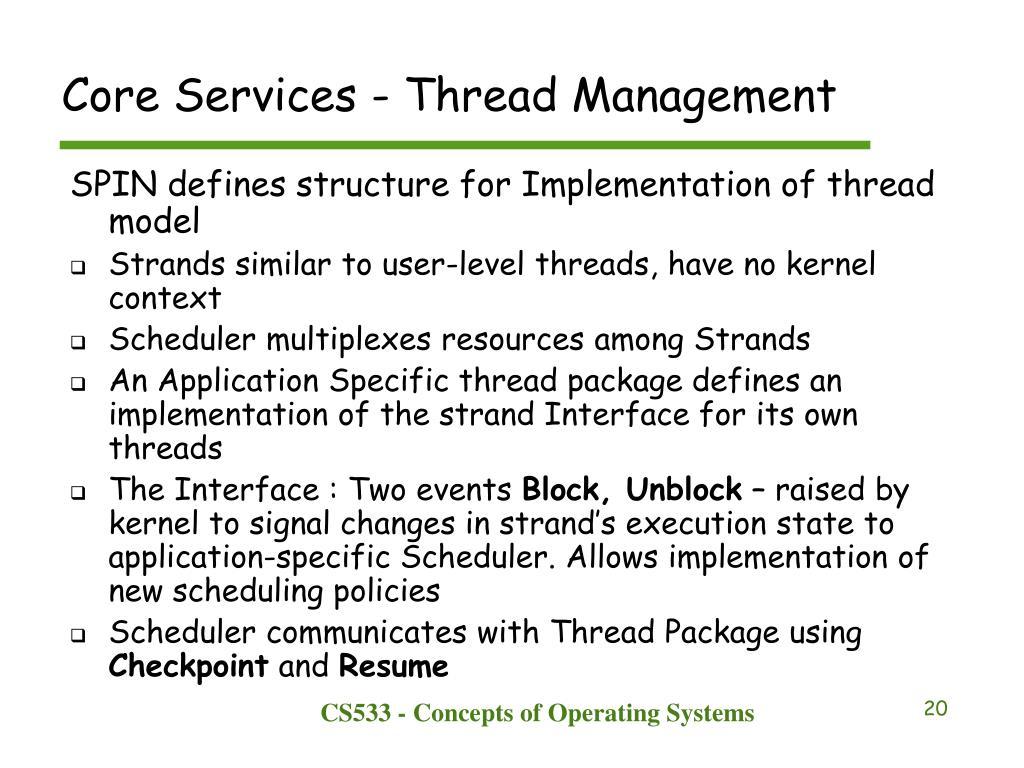 Core Services - Thread Management