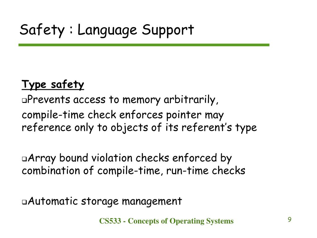 Safety : Language Support