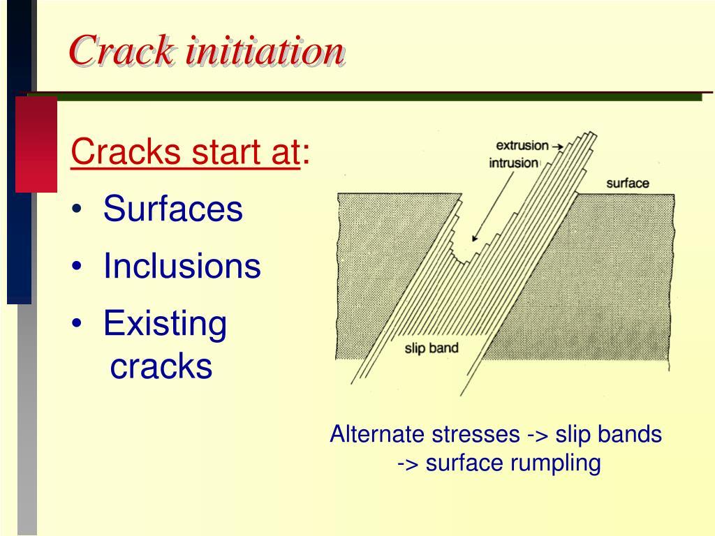 Crack initiation