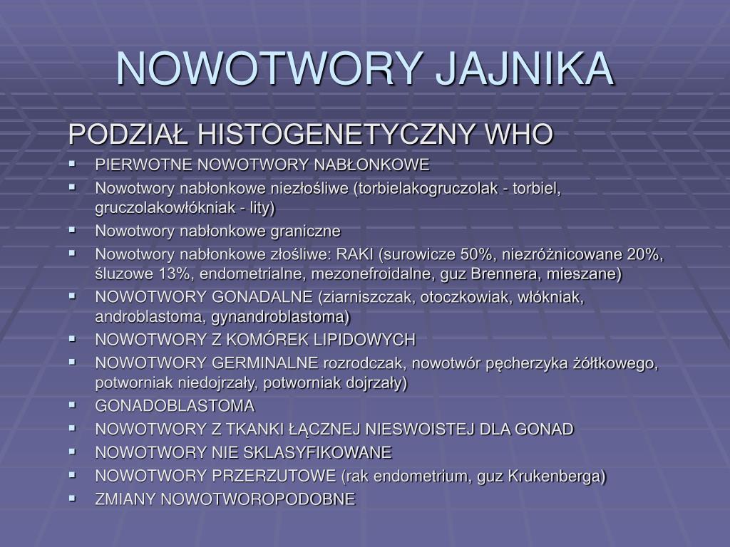 NOWOTWORY JAJNIKA