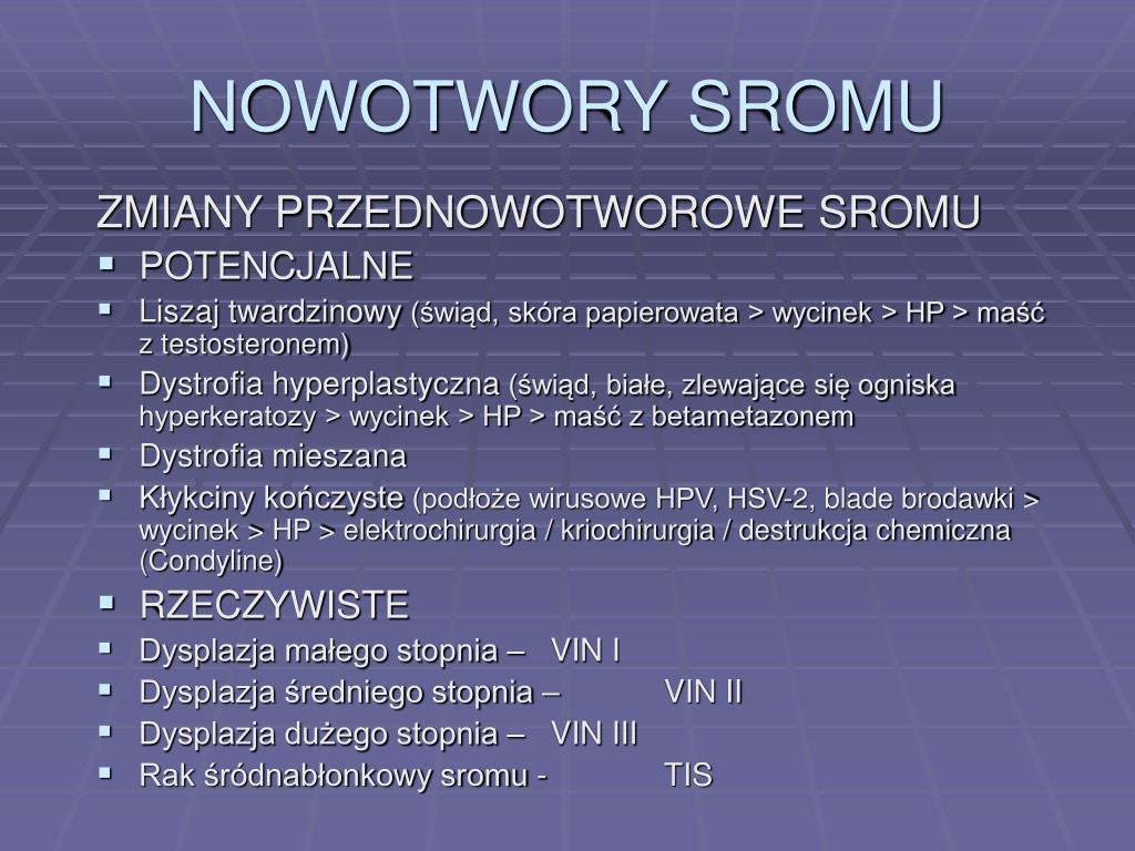 NOWOTWORY SROMU