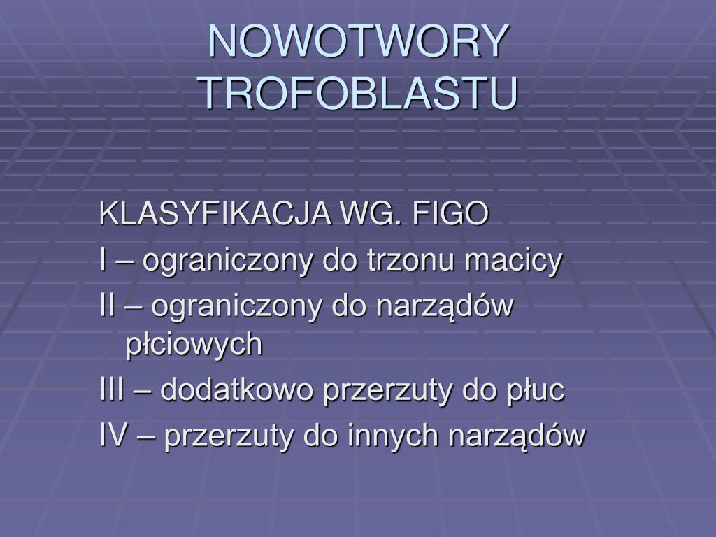 NOWOTWORY TROFOBLASTU
