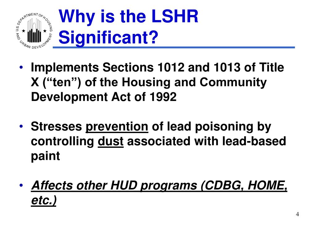 Why is the LSHR Significant?