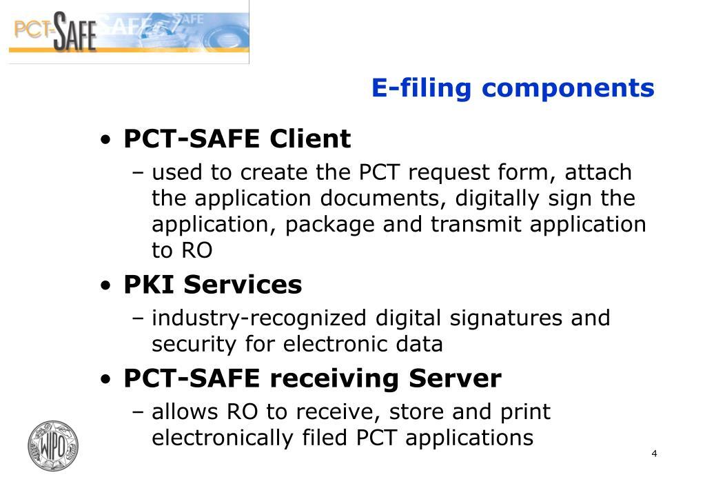 E-filing components