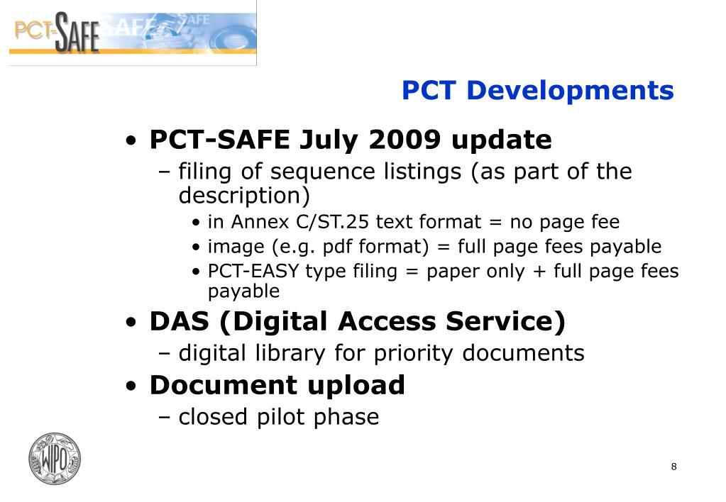 PCT Developments