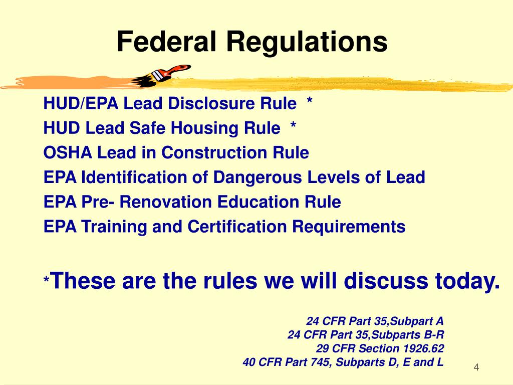 Federal Regulations
