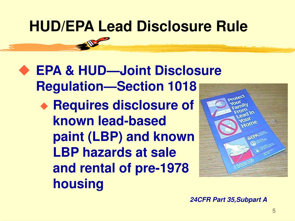 HUD/EPA Lead Disclosure Rule