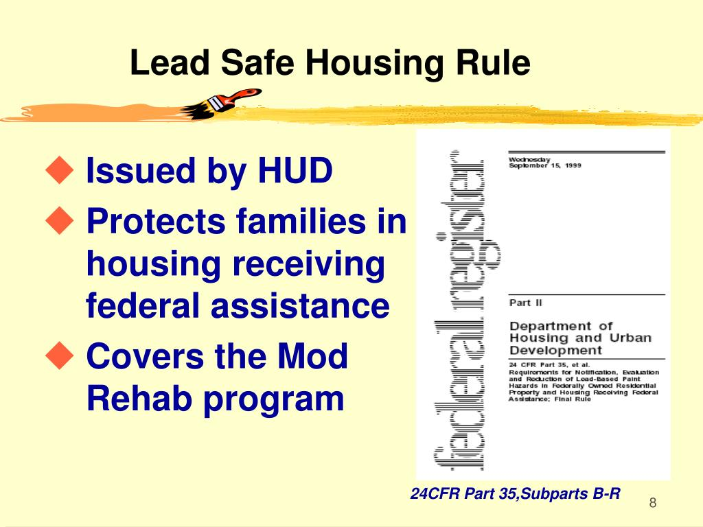 Lead Safe Housing Rule
