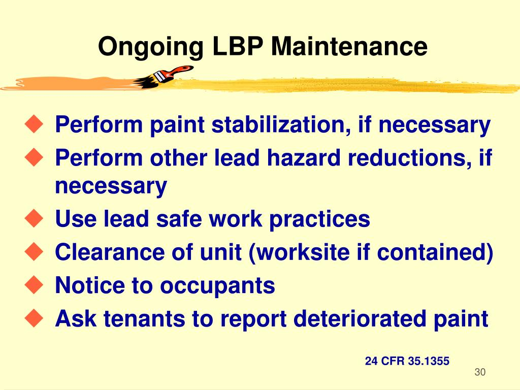 Ongoing LBP Maintenance