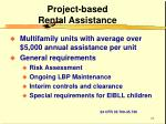 project based rental assistance