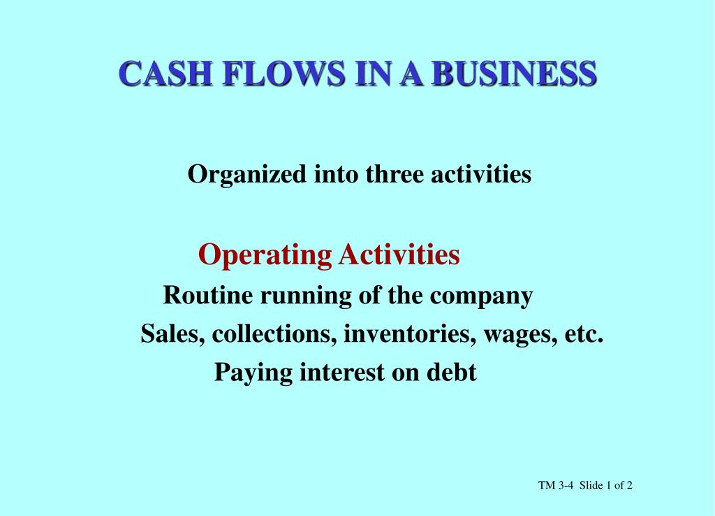 CASH FLOWS IN A BUSINESS