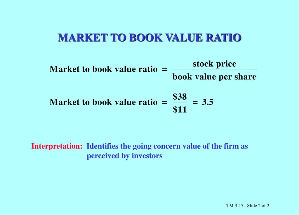 MARKET TO BOOK VALUE RATIO