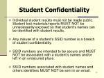 student confidentiality