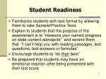student readiness