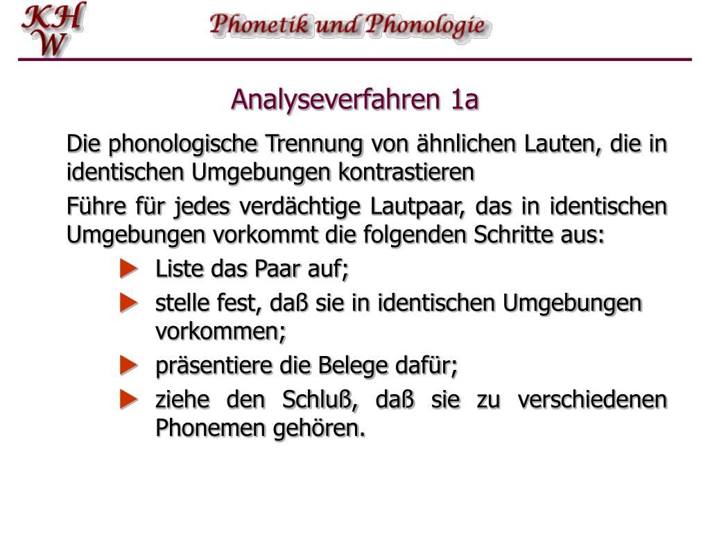 Analyseverfahren 1a