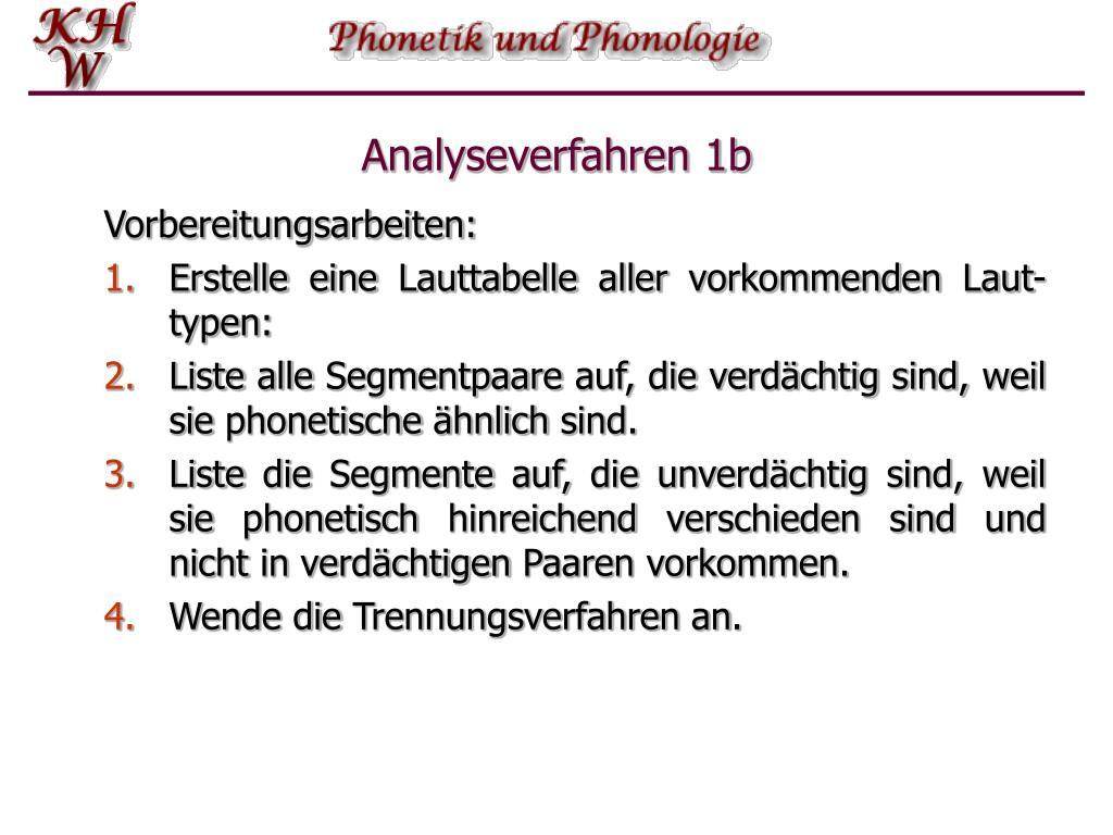 Analyseverfahren 1b