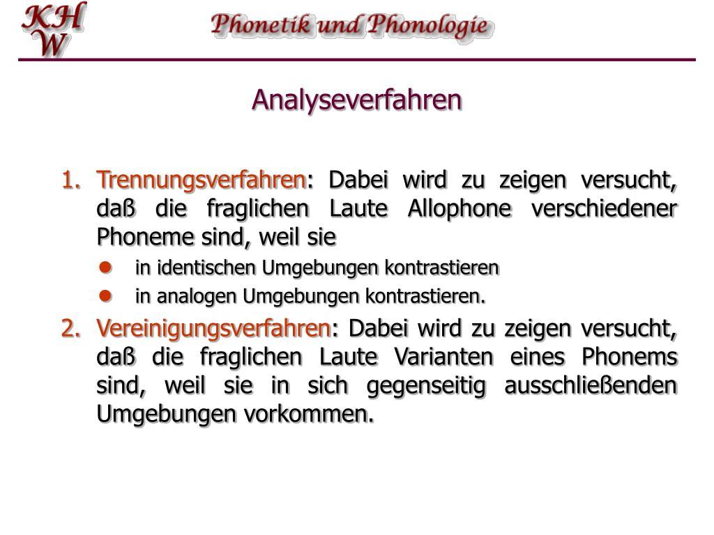Analyseverfahren