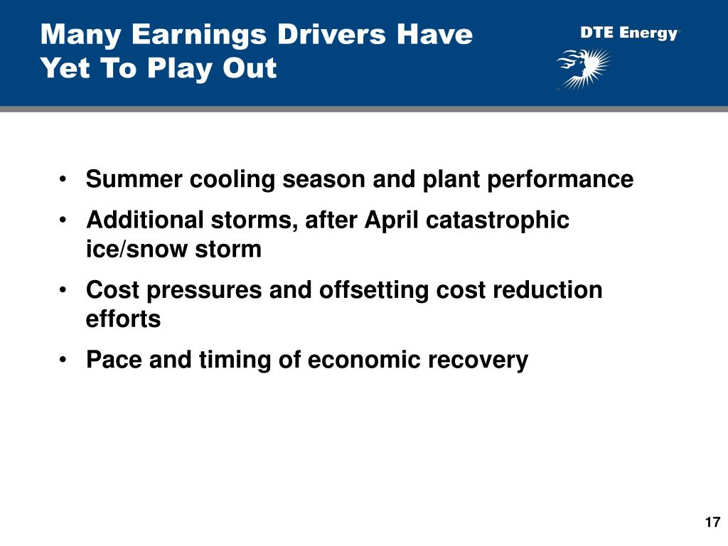 Many Earnings Drivers Have Yet To Play Out