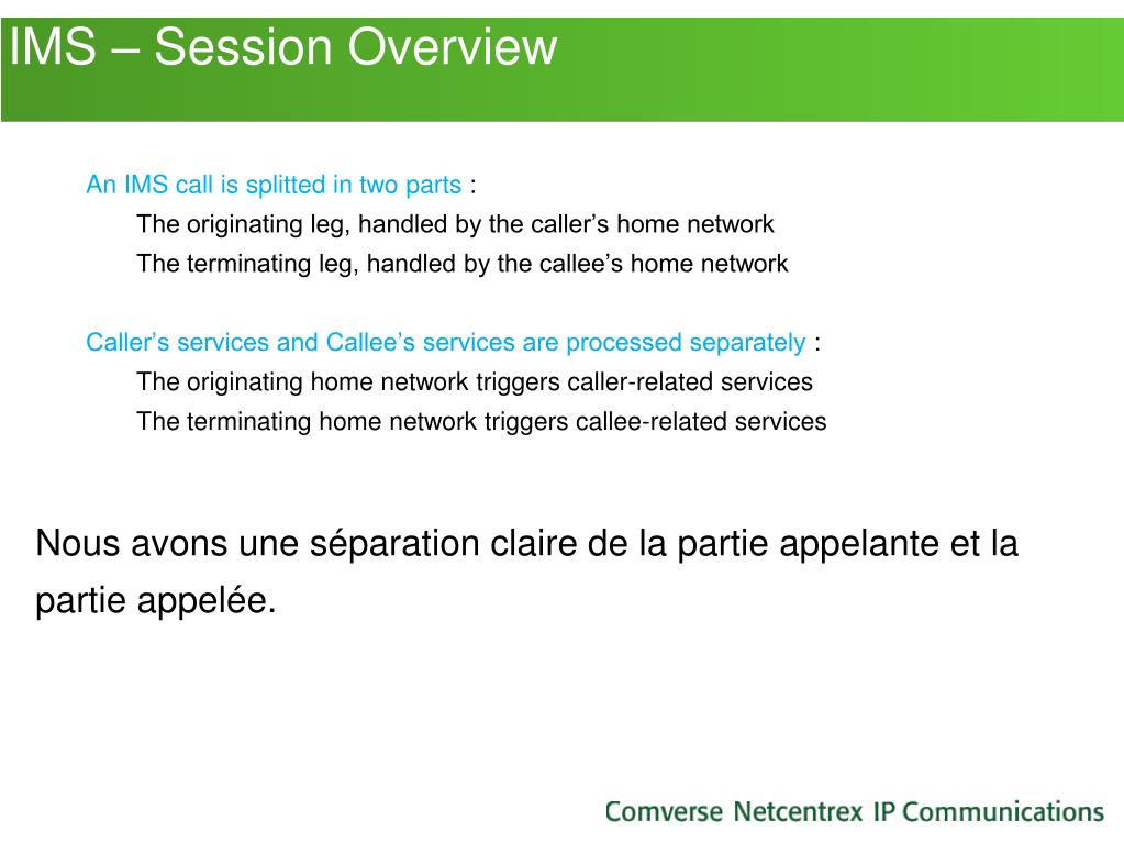 IMS – Session Overview