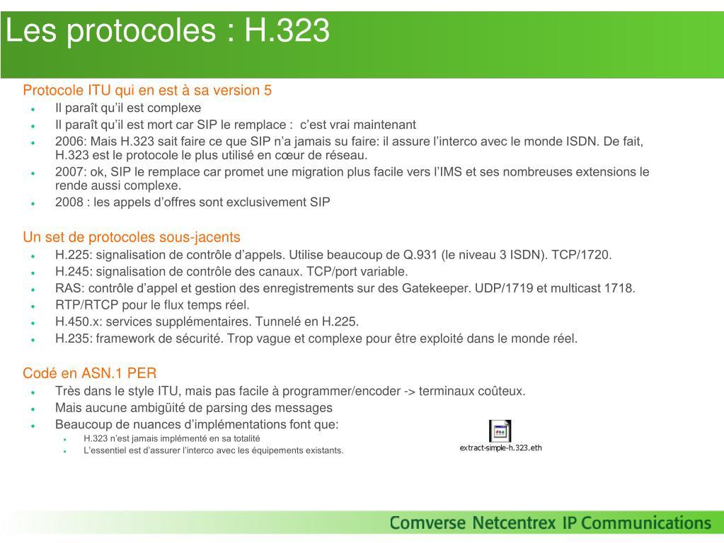 Les protocoles : H.323