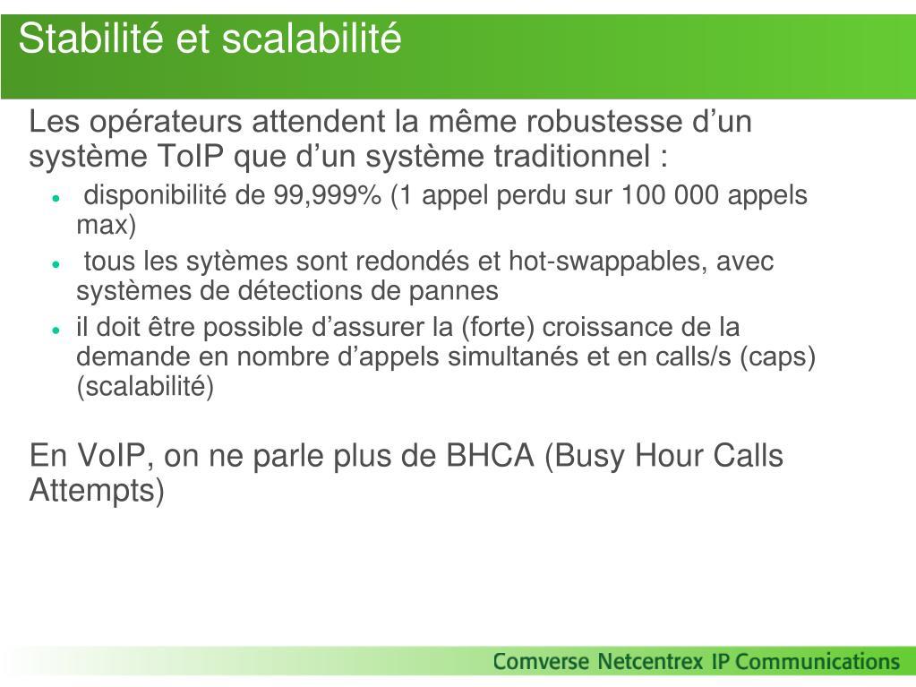 Stabilité et scalabilité