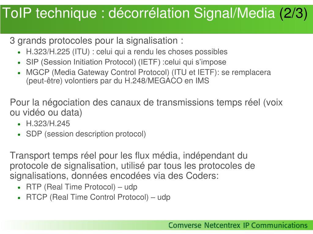 ToIP technique : décorrélation Signal/Media