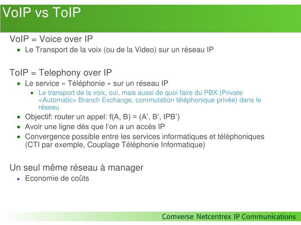 VoIP vs ToIP