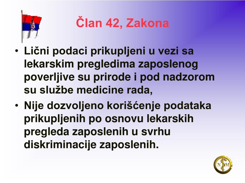 Član 42, Zakona