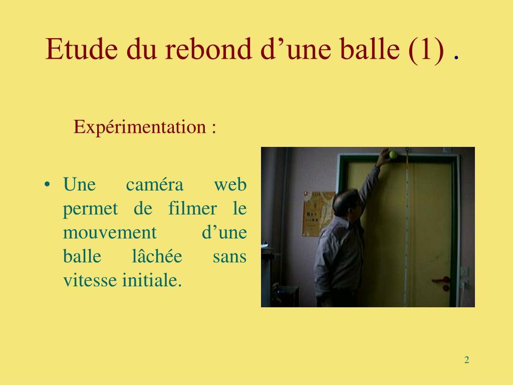 Etude du rebond d'une balle (1)