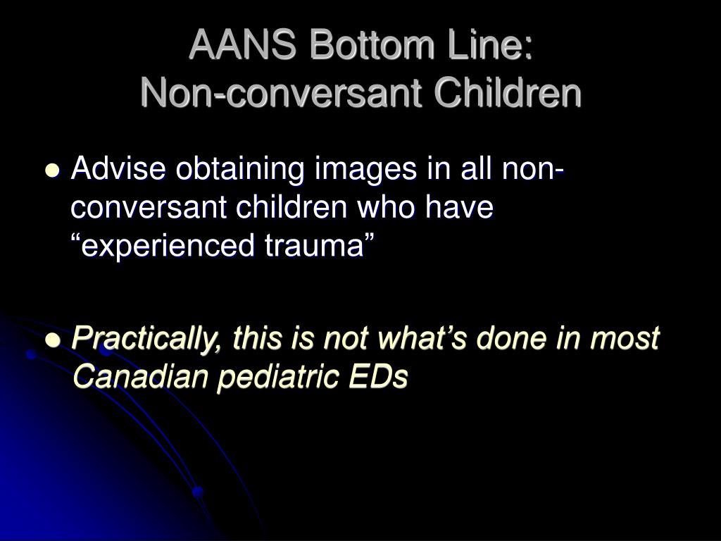 AANS Bottom Line: