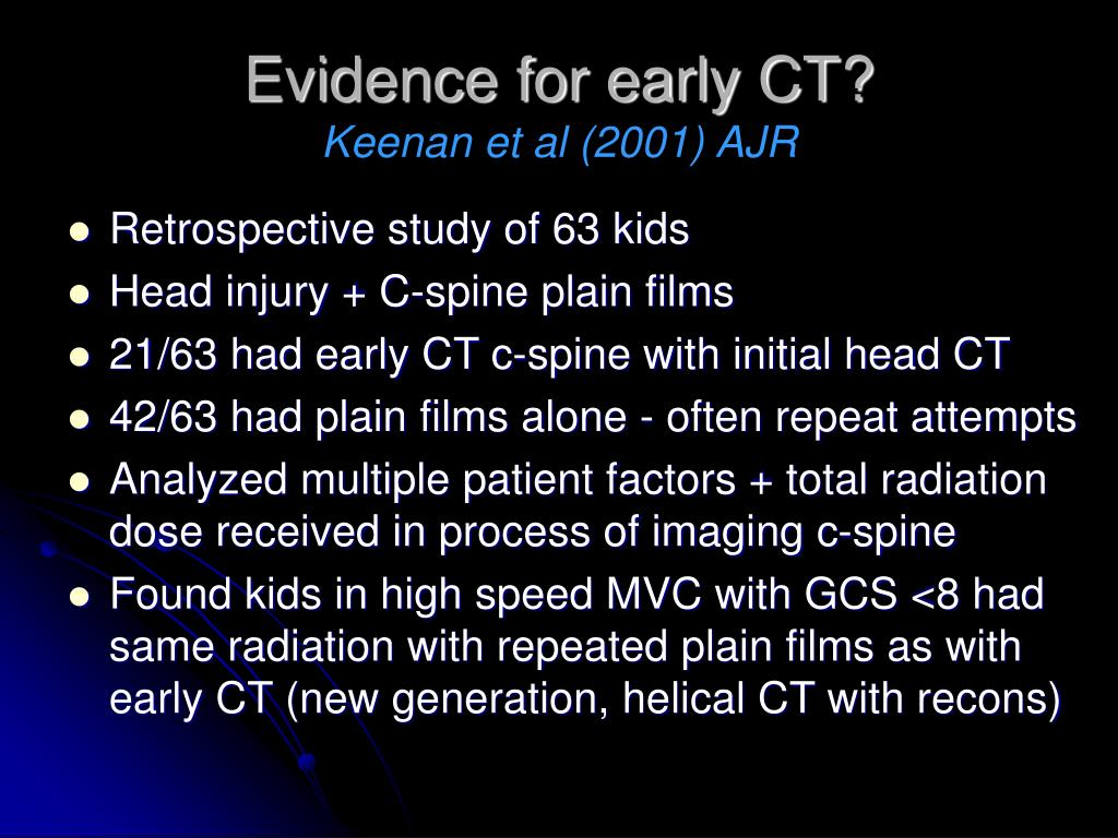 Evidence for early CT?