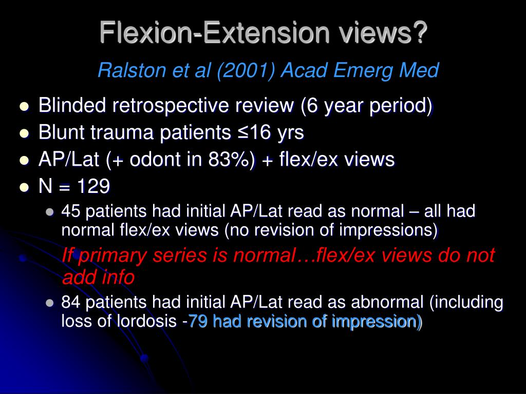 Flexion-Extension views?