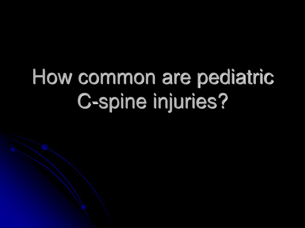 How common are pediatric C-spine injuries?