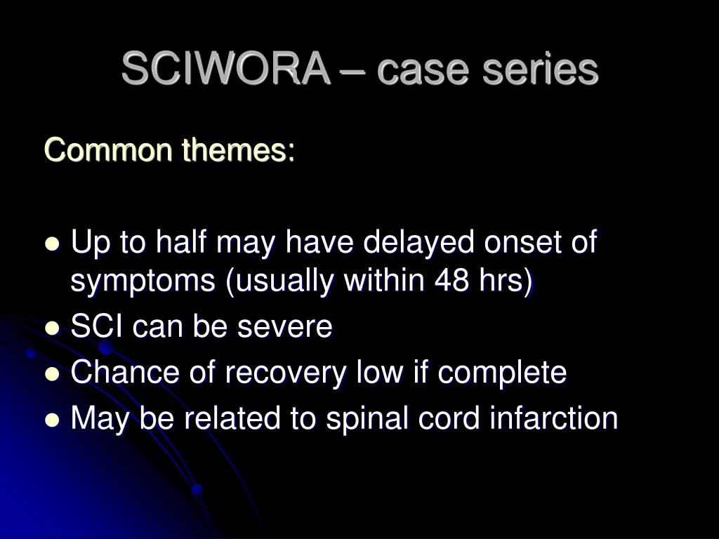 SCIWORA – case series