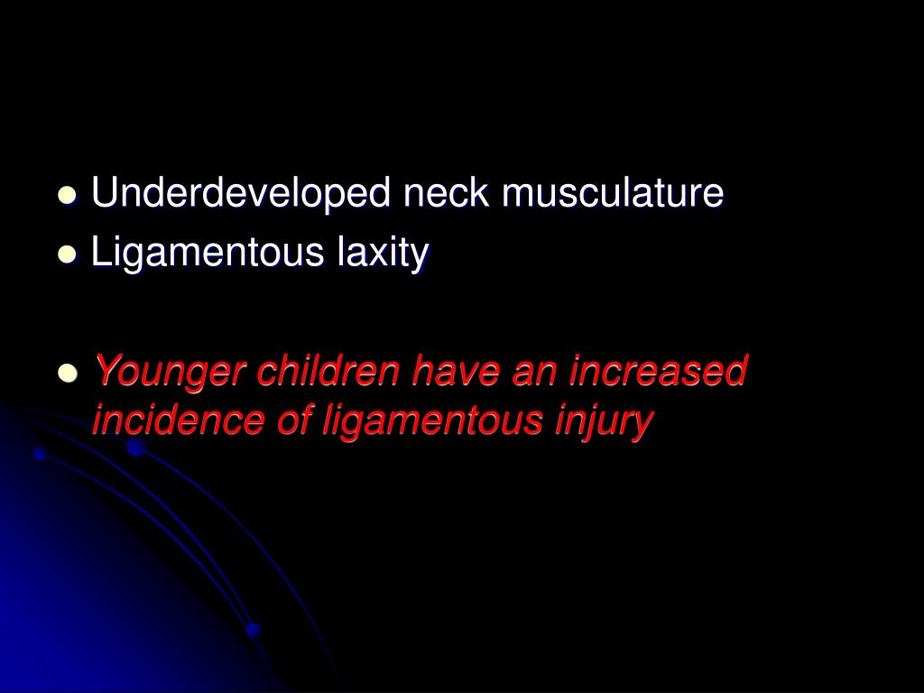 Underdeveloped neck musculature