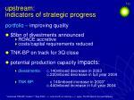 upstream indicators of strategic progress20