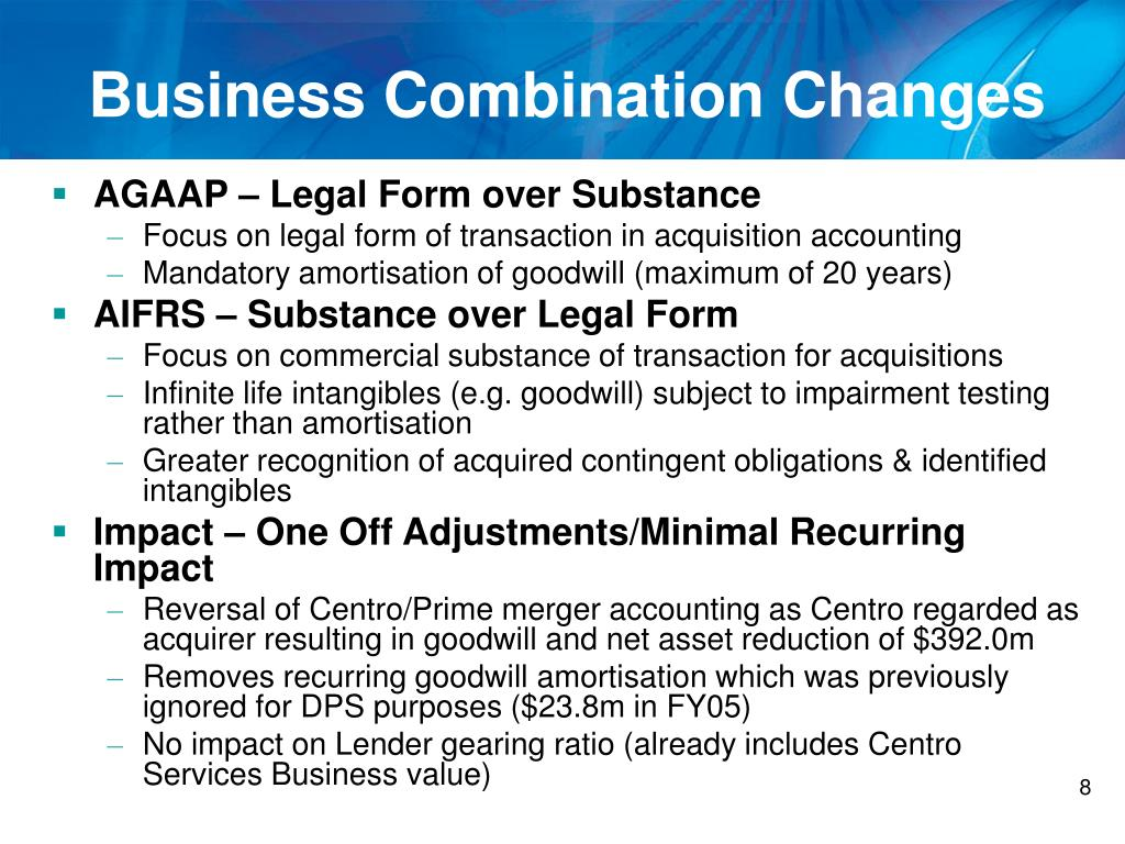 Business Combination Changes