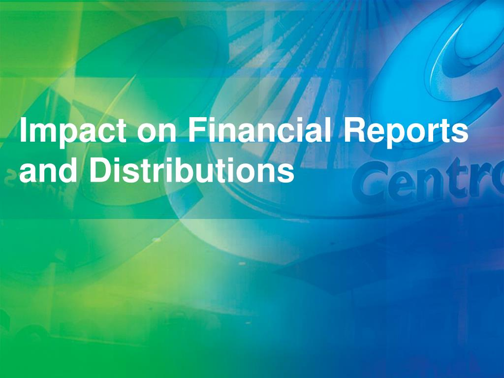 Impact on Financial Reports