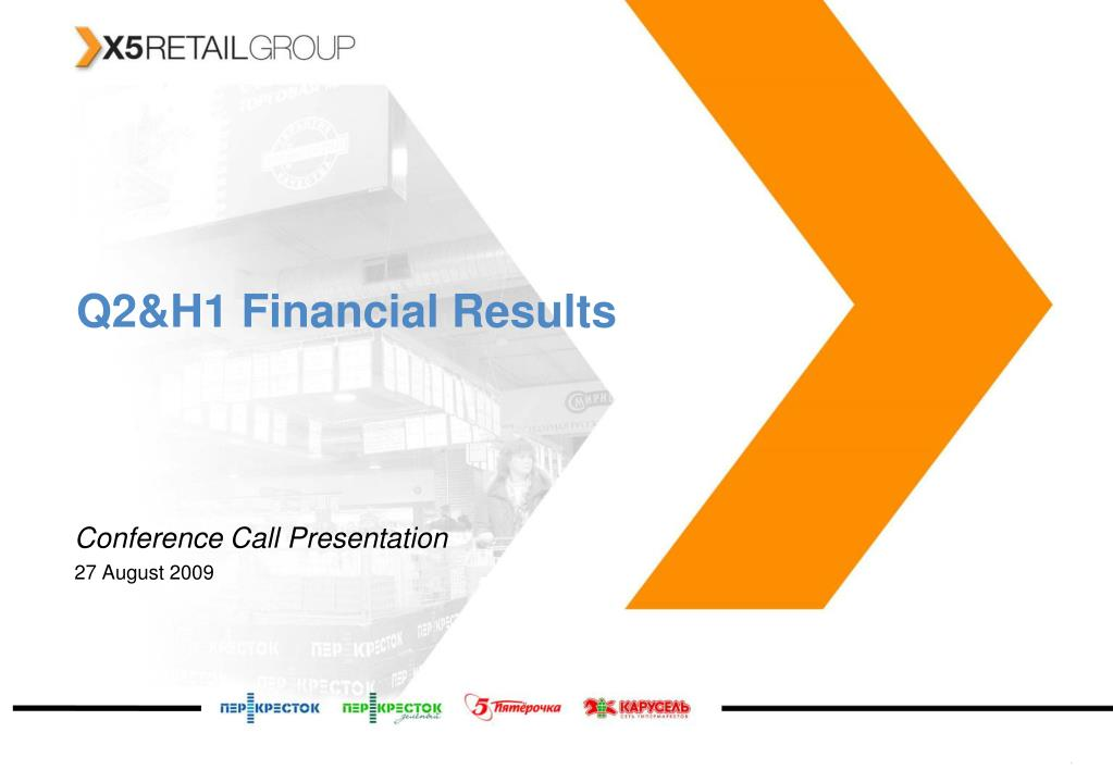 Q2&H1 Financial Results