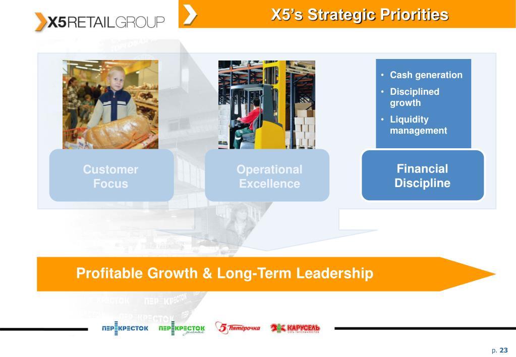 X5's Strategic