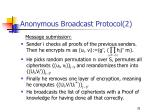 anonymous broadcast protocol 2