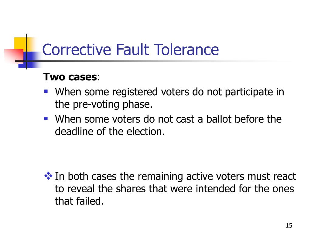 Corrective Fault Tolerance