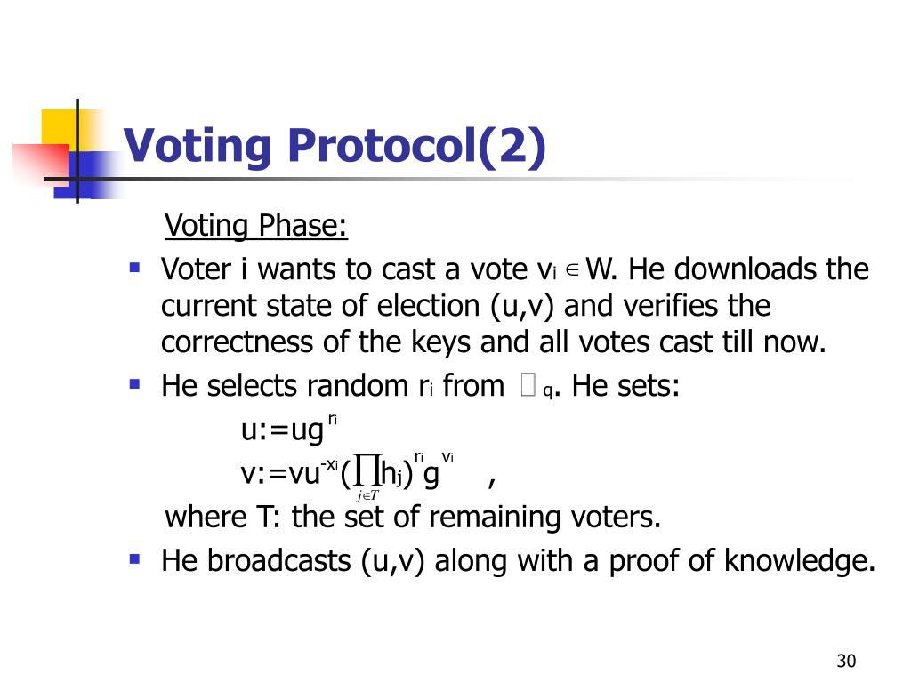 Voting Protocol(2)