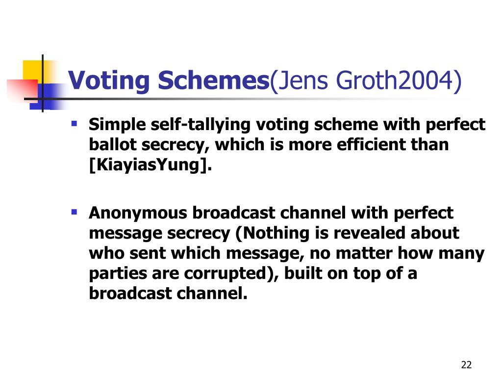 Voting Schemes
