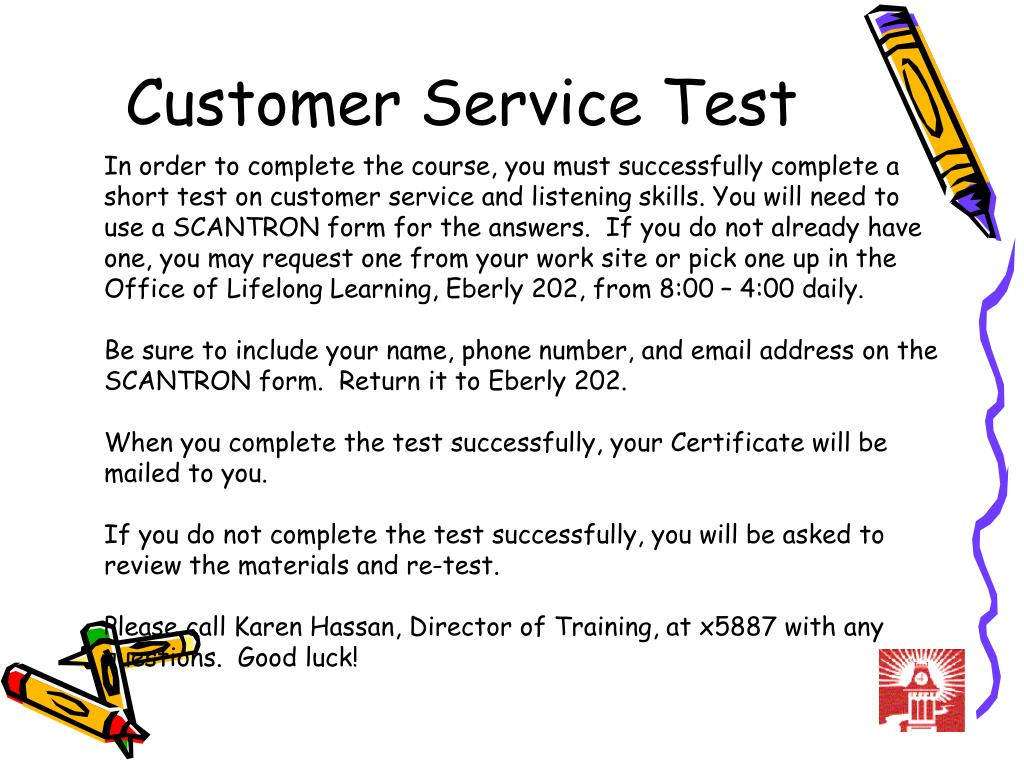 customer service test