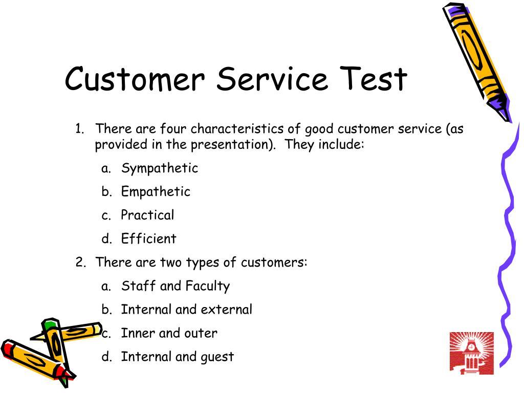 Customer Service Test
