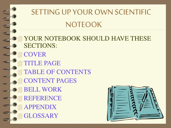 Setting up your own scientific noteook
