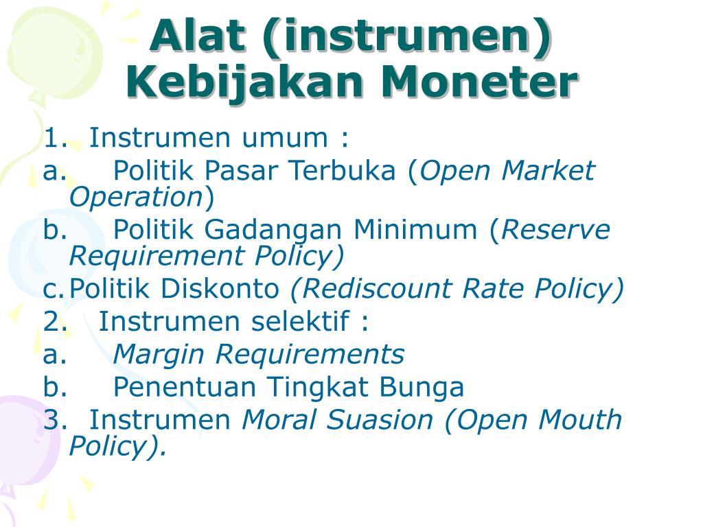 Alat (instrumen) Kebijakan Moneter